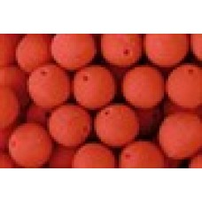 Fluo Strawberry Boilies Pre Drilled 9mm